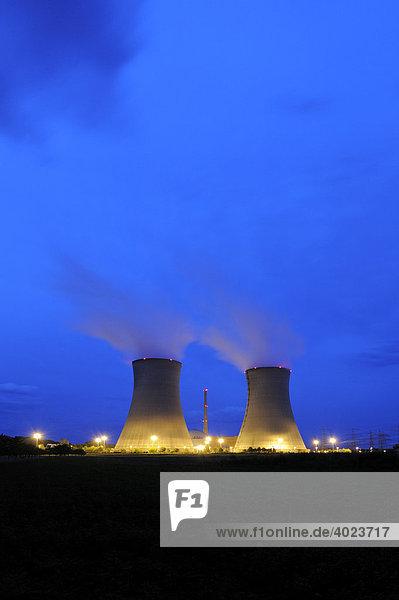 Kernkraftwerk  Grafenrheinfeld  Unterfranken  Bayern  Deutschland  Europa
