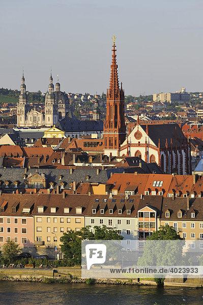 Stadtansicht von Würzburg  Unterfranken  Bayern  Deutschland  Europa