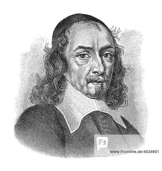 Holzschnitt  Pierre Corneille  Portrait