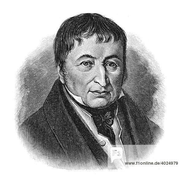 Holzschnitt  Johann Friedrich Gottlob Koenig  Portrait