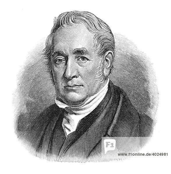 Holzschnitt  George Stephenson  Portrait