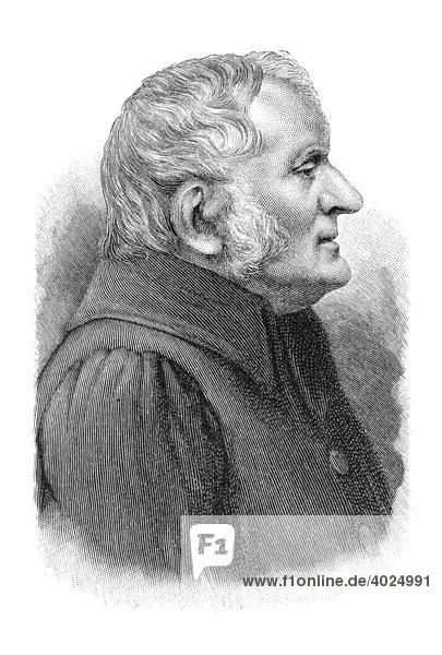 Holzschnitt  John Dalton  Portrait
