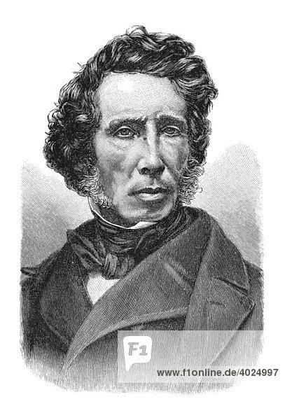Holzschnitt  Friedrich Wöhler  Portrait