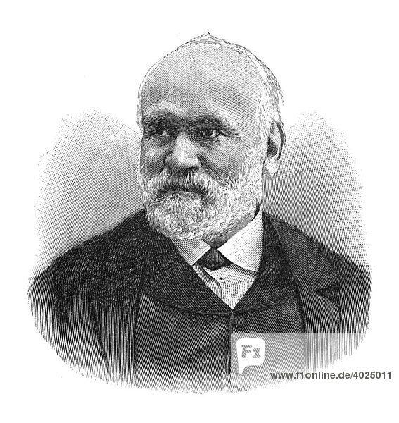 Holzschnitt  Johann Samuel Heinrich Kiepert  Portrait