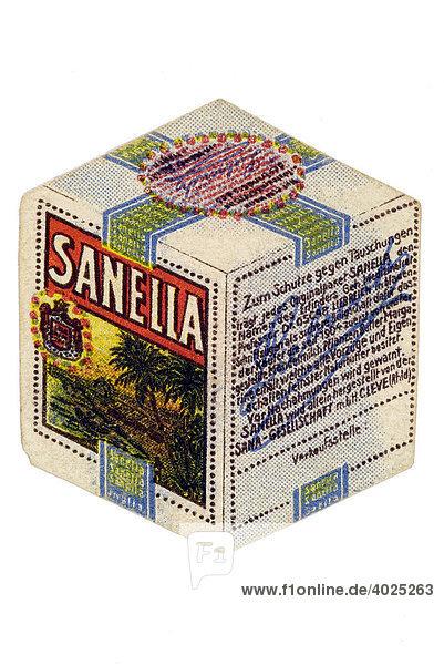 Umverpackung  Sanella  Margarine Umverpackung, Sanella, Margarine