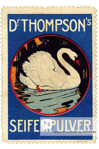 Reklamemarke  Dr. Thompson's Seifenpulver Reklamemarke, Dr. Thompson's Seifenpulver