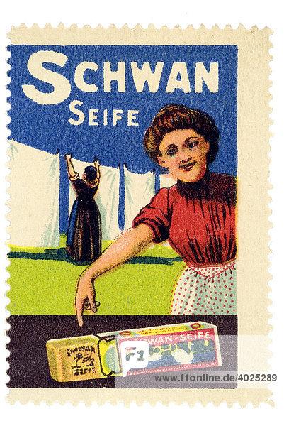 Reklamemarke  Schwan Seife Reklamemarke, Schwan Seife