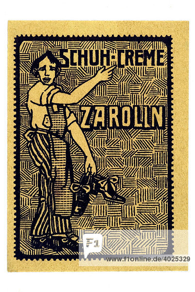 Reklamemarke  Schuhe-Creme Zarolin