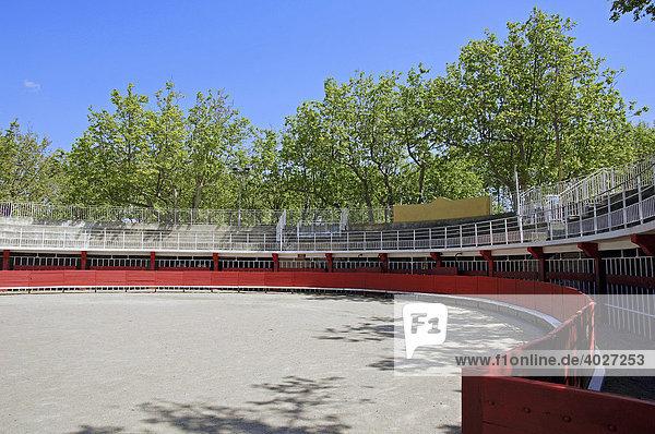 Bull fight arena  Arenes de Salin de Giraud  Salin de Giraud  Camargue  Bouches-du-Rhone  Provence-Alpes-Cote d'Azur  Southern France  France  Europe