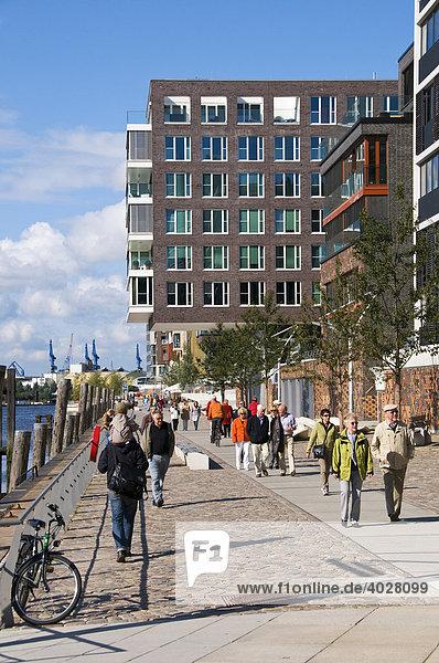 Neue Büro- und Wohngebäude am Kaiserkai,  Hafencity,  Hafen City,  Hamburg,  Deutschland,  Europa