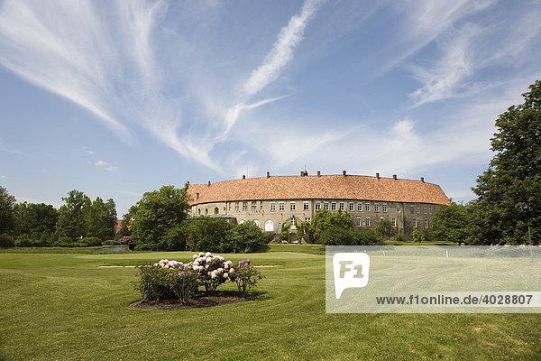 Wasserschloss Steinfurt  Bewohner und Besitzer Christian Fürst zu Bentheim und Steinfurt  Steinfurt  Münsterland  Nordrhein-Westfalen  Deutschland  Europa