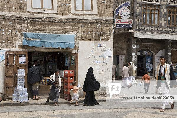Geschäft  Altstadt  Lehmbauten  Sana'a  Unesco Weltkulturerbe  Jemen  Naher Osten