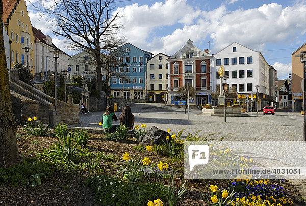 Marktplatz  Regen  Bayerischer Wald  Niederbayern  Bayern  Deutschland  Europa