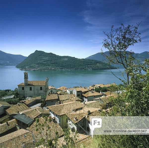 San Marasino  Lago d'Iseo  Lombardei  Italien  Europa