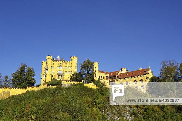 Schloss Hohenschwangau  Bayern  Deutschland  Europa