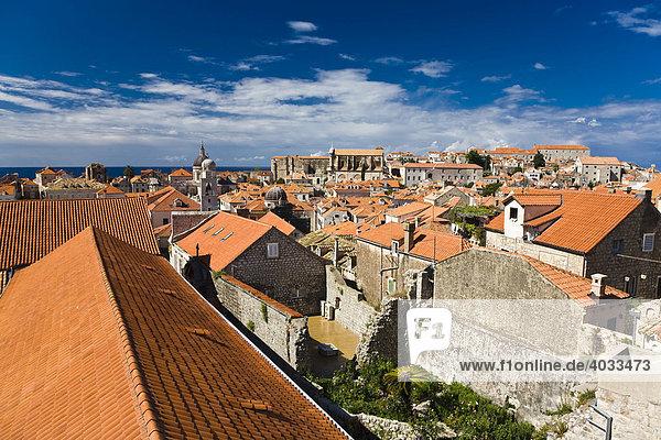Altstadt und Weltkulturerbe Dubrovnik  Ragusa  Dubrovnik-Neretva  Dalmatien  Kroatien  Europa