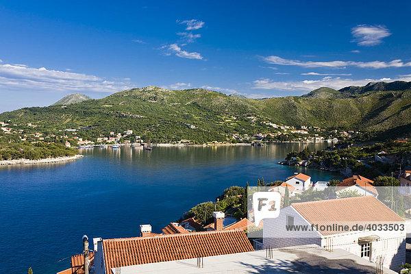 Bucht von Zaton  Dubrovnik-Neretva  Dalmatien  Kroatien  Europa