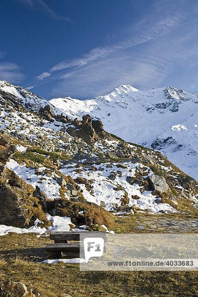 Gebirgslandschaft an der Großglockner Hochalpenstraße  Nationalpark Hohe Tauern  Kärnten  Österreich  Europa