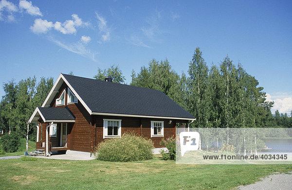 Ferienhaus im finnischen Seengebiet  bei Kuopio  Finnland  Skandinavien  Europa