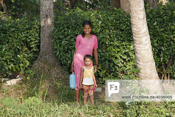 Inhabitants of the Kerala backwaters  India  South Asia