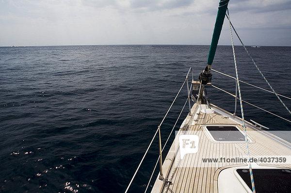 Segelboot  Detail  Segeltörn  Mittelmeer