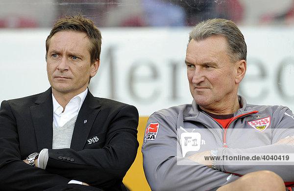Manager Horst HELDT und Teambetreuer Jochen RÜCKER  VfB Stuttgart