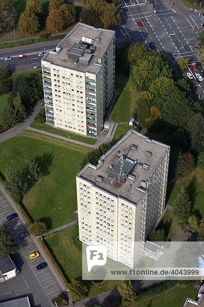 Wohnhochhäuser  Innenstadt Münster  Nordrhein-Westfalen  Deutschland  Europa