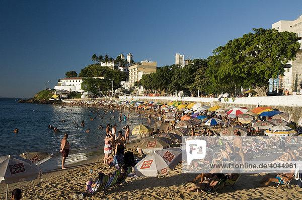 Praia Porto da Barra  the main beach of Salvador  Salvador de Bahia  Bahia  Brazil  South America