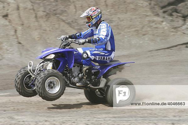 Yamaha Quad driving off-road