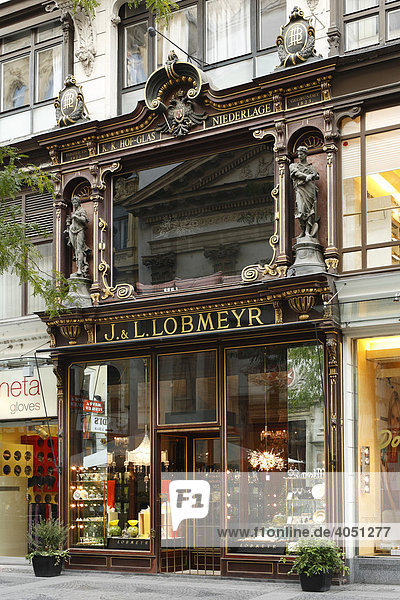 Glas-Geschäft J. & L. Lobmeyr in Kärntner Straße  Wien  Österreich  Europa