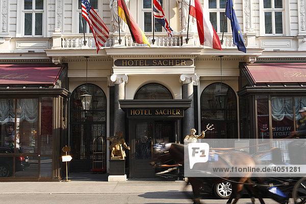 Hotel Sacher  Wien  Österreich  Europa