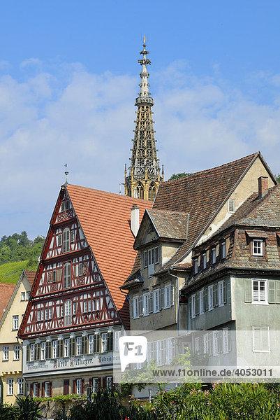 Altstadthäuser  Esslingen am Neckar  Baden-Württemberg  Deutschland  Europa