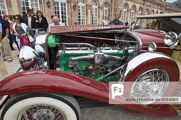 Duesenberg J 6.9 litre Roadster  USA 1933  Oldtimer-Gala Schwetzingen  Baden-Württemberg  Deutschland  Europa