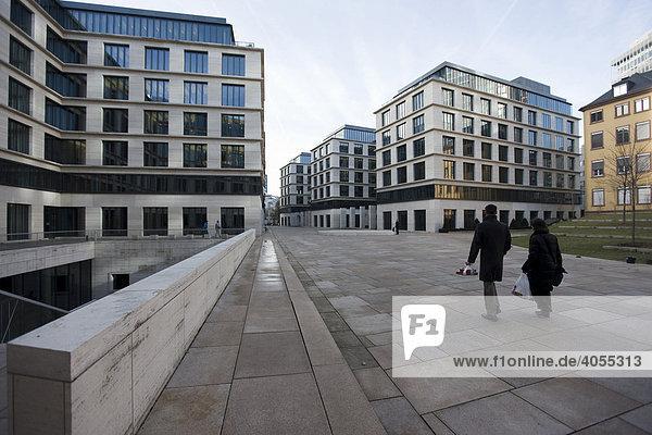Neue Bürogebäude in der Taunusanlage  Frankfurt  Hessen  Deutschland  Europa
