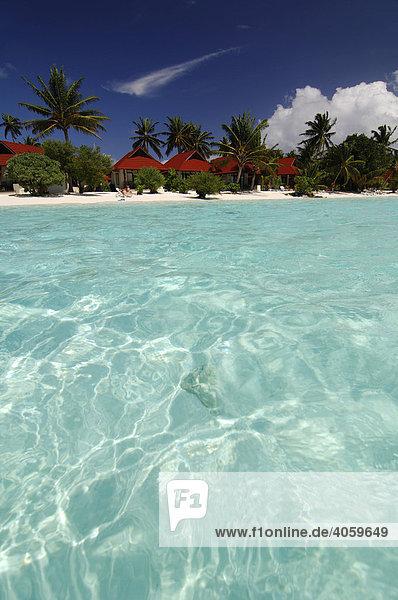 Strandbungalows  Kurumba Resort  Malediven  Indischer Ozean