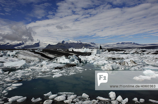 Eisberge  Gletscher  Joekulsarlon  Island  Europa