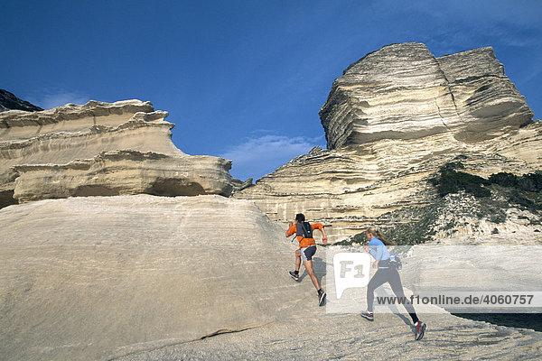 Trailrunning  Santa Manza  Bonifacio  Korsika  Frankreich  Europa
