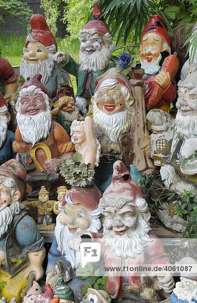 Keramikfiguren  Gartenzwerge