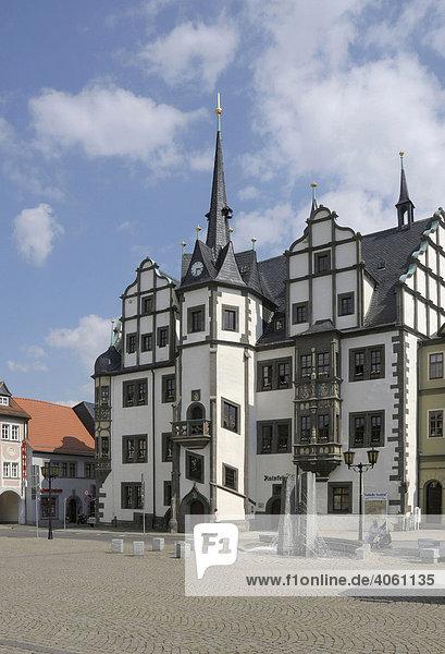 Rathaus Saalfeld  Thüringen  Deutschland  Europa