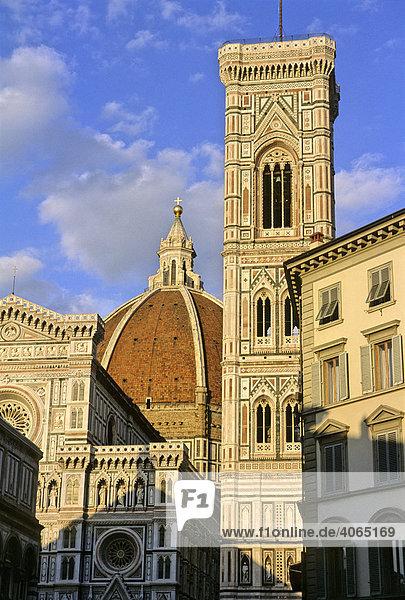 Dom Santa Maria del Fiore  Campanile  Florenz  Firenze  Toskana  Italien  Europa