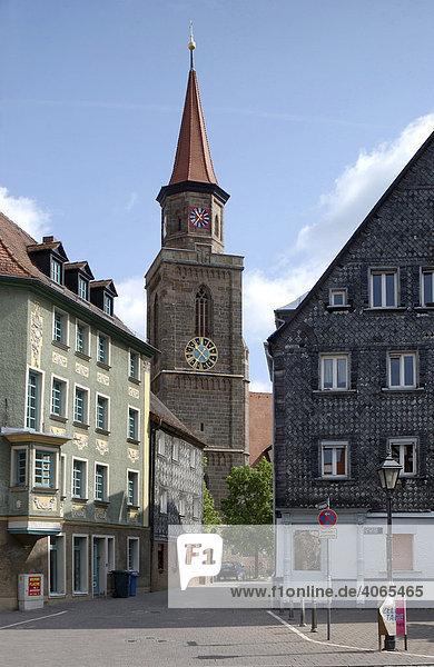 Kirche St. Michael  Kirchplatz  Gustavstraße  Fürth  Mittelfranken  Franken  Bayern  Deutschland  Europa