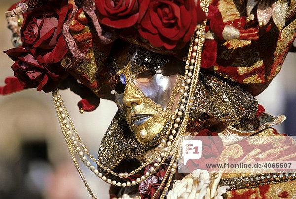 Mask  carnival in Venice  Veneto  Italy  Europe