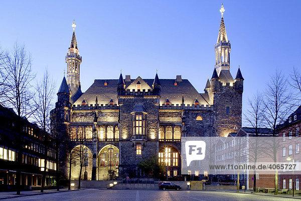 Town hall  Aachen  North Rhine-Westphalia  Germany  Europe