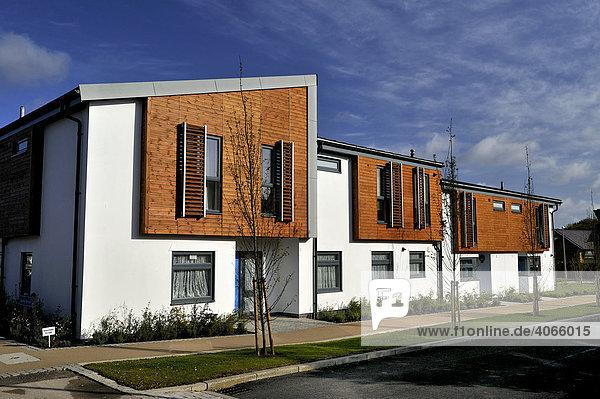 Moderne Architektur  Häuser in New Hall  Harlow in Essex  Großbritannien  Europa