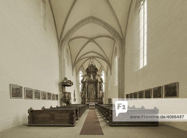 Klosterkirche Johannes der Täufer in Mariaburghausen  Unterfranken  Bayern  Deutschland  Europa