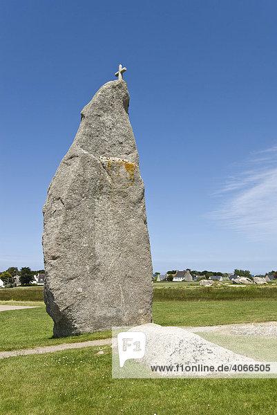 Menhir de Brignogan  Bretagne  Frankreich  Europa