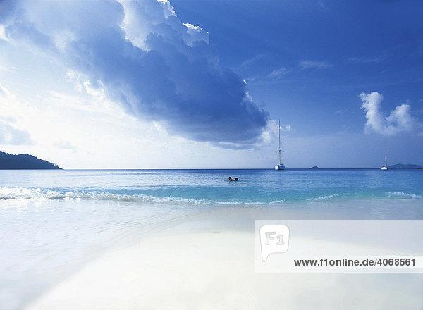 Strand  Anse Lazio  Praslin  Seychellen  Indischer Ozean