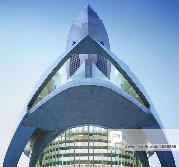 Oper von Santiago Calatrava  Valencia  Spanien  Europa