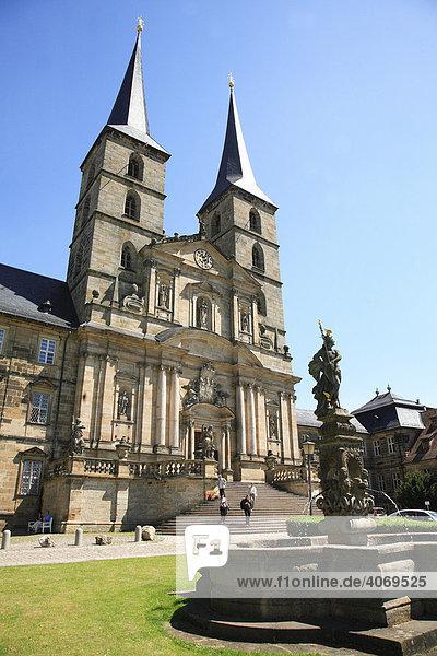Kloster St. Michael auf dem Michelsberg  Bamberg  Oberfranken  Bayern  Deutschland  Europa