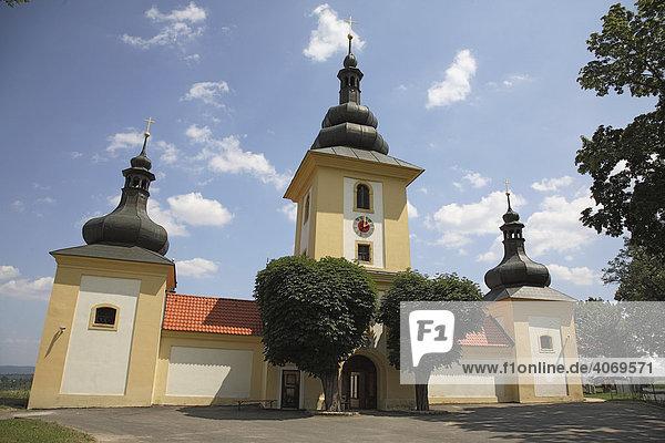 Wallfahrtskirche Maria Loreto in Starý Hroznatov  Altkinsberg  Bezirk Cheb  Eger  Böhmen  Egerland  Tschechische Republik  Europa